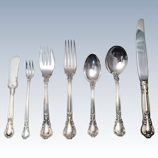 Gorham Sterling Flatware Set In Chantilly Pattern