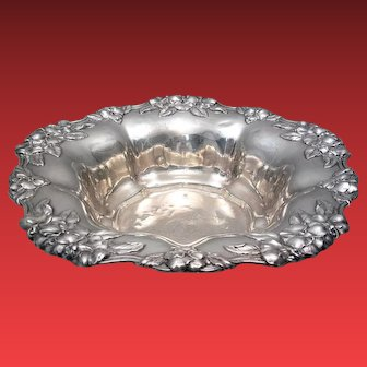 Black Starr & Frost Sterling Centerpiece / Bowl With Repousse