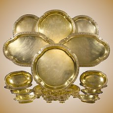 Keller Sterling-Gilt Table Service 31 pcs