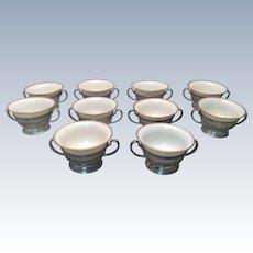 Tiffany & Co Sterling Bouillon / Dessert Cups Set of Ten
