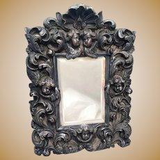 Silver Decorative Mirror With Cherubs