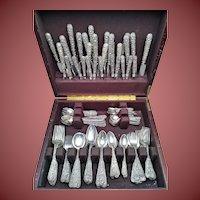 S. Kirk & Son Sterling Silver Flatware – Repousse – 203 Pcs.