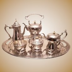 Sterling 7 Pc Tea Service With Tray by Rogers Lunt & Bowlen Co.