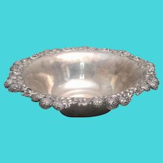 """Tiffany & Co Sterling Silver Bowl in Clover Pattern 13"""""""
