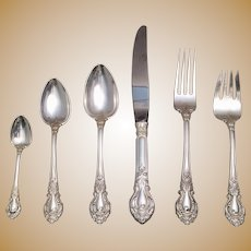Stieff Sterling Flatware Service in Royal Dynasty Pattern