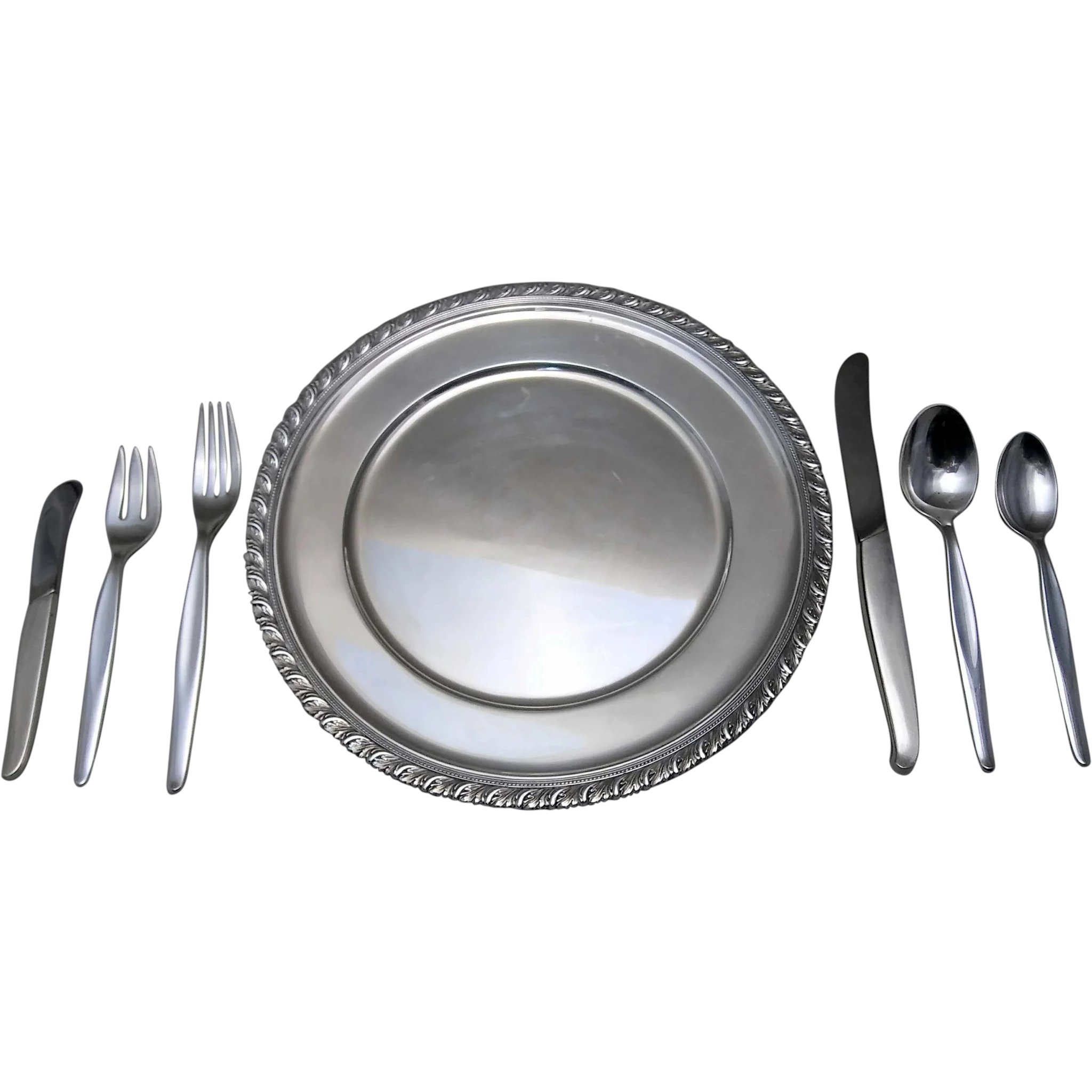 Sterling Silver Flatware Towle Contour Salad Fork