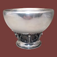 Georg Jensen Sterling Centerpiece in Blossom Pattern 584B
