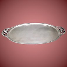 Georg Jensen Sterling Blossom Tray With Handles 2E