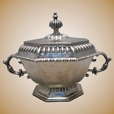 Small Mexican Sterling Silver Soup Tureen by Lunt