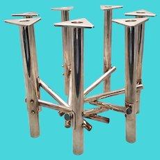 Judaic Silver Art / Seven Light Candelabra by Rami Landau Art Moderne
