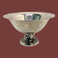 Sterling Silver Danish Hand Hammered Candy Dish