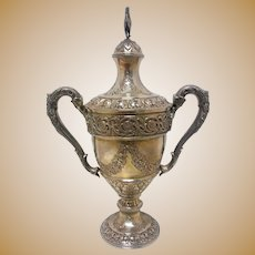 Small Sterling Trophy With Repousse by Currier & Roby