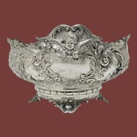 19th Century German  Repoussé Silver Centerpiece or Bowl
