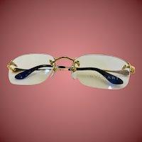 Bulgari Gold 18k Rimless Sunglasses