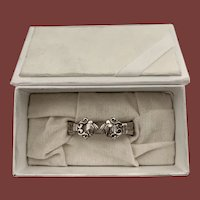 Georg Jensen Sterling Silver Napkin Holder in Acorn Pattern in Fitted Box