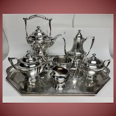 Tiffany and Co Sterling Tea Service In Colonial Pattern With Tray