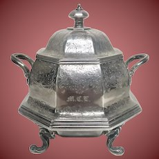 Ball Tompkins and Black Small Silver Soup Tureen With Handles