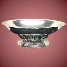 Georg Jensen Sterling Silver Oval Center Piece Bowl