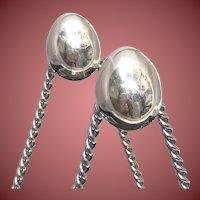 1994 Linda Lee Johnson Silver Oval Earrings