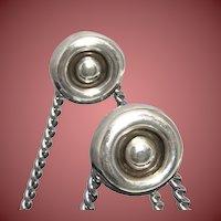 1994 Linda Lee Johnson Silver Circle Earrings