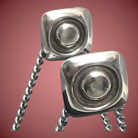 1994 Linda Lee Johnson Silver Square Earrings