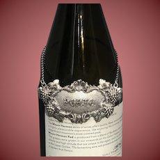 Buccellati Italian Sterling Silver Berry Port Claret Jug Label