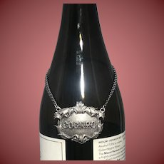 Buccellati Italian Sterling Silver Cognac Claret Jug Label Small