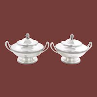 Tiffany & Co. Sterling Silver Italian Pattern 1870 Tureens Pair