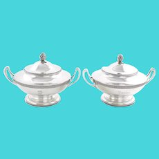 Tiffany & Co. Sterling Silver Italian Pattern 1870 Tureens Pair