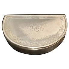 Gorham Hand Hammered Crescent Jewelry Box
