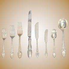 Tiffany Sterling Silver Broom Corn Pattern Flatware Service