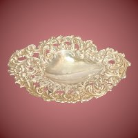 Shiebler Sterling Silver Ring Tray Floral