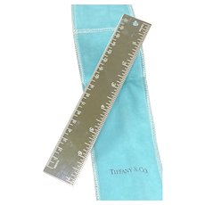 Tiffany & Co. Silver Metric Ruler