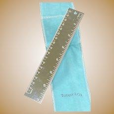 Tiffany & Co. Silver Metric Ruler