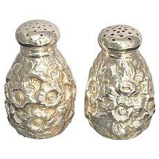 Shiebler Sterling Silver Repoussé Salt & Pepper Shakers