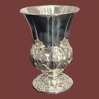 Sterling Silver Floral Kiddush Cup/Goblet