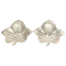 Pair of Tiffany & Co Clover Leaf Condiment Dishes
