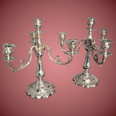 Gorham Chantilly Sterling Silver Four Light Candelabra