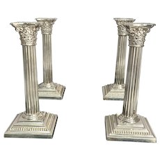 Gorham Corinthian Column Candlesticks (Set of Four)
