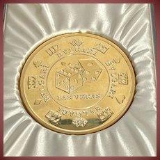 Bulgari/Bvlgari Craps/Roulette Sterling Silver Gilt Paperweight