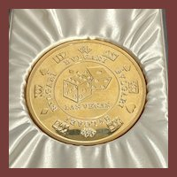 Sale! Bulgari/Bvlgari Craps/Roulette Sterling Silver Gilt Paperweight