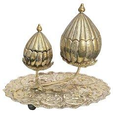 Turkish Ottoman Incense Burner Silver