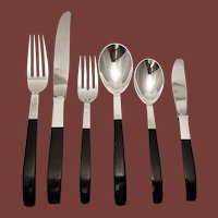 Sterling Flatware Set CONTRAST by Lunt Setting for Eight