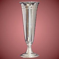 Tiffany & Co Sterling Straight Line Vase