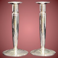 Tiffany & Co Sterling Silver Ribbed Candlesticks