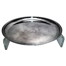 Evald Nielsen Sterling Silver Round Dish w/ Center Chased Design