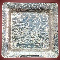 Tiffany Sterling Silver Japonesque Square Tray