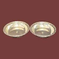 Tiffany Sterling Silver Bowl Open Vegetable Dishes Floral