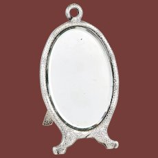 Tiffany & Co. Sterling Silver Japonesque Easel Mirror