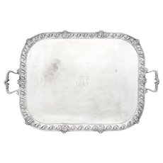 Sterling Silver Crichton Bros. Two-Handle Bar / Side table Tray